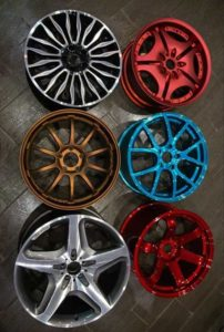 Покраска автомобильных дисков порошковой покраской