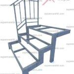 каркас уличной лестницы из металла